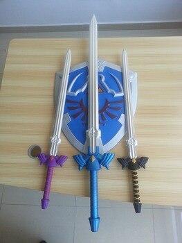 80CM Movie Deadpool Cosplay Equipment EVA Foam sword The Legend of Zelda Blue Replica Master Sword Prop Display New cosplay toys figurine