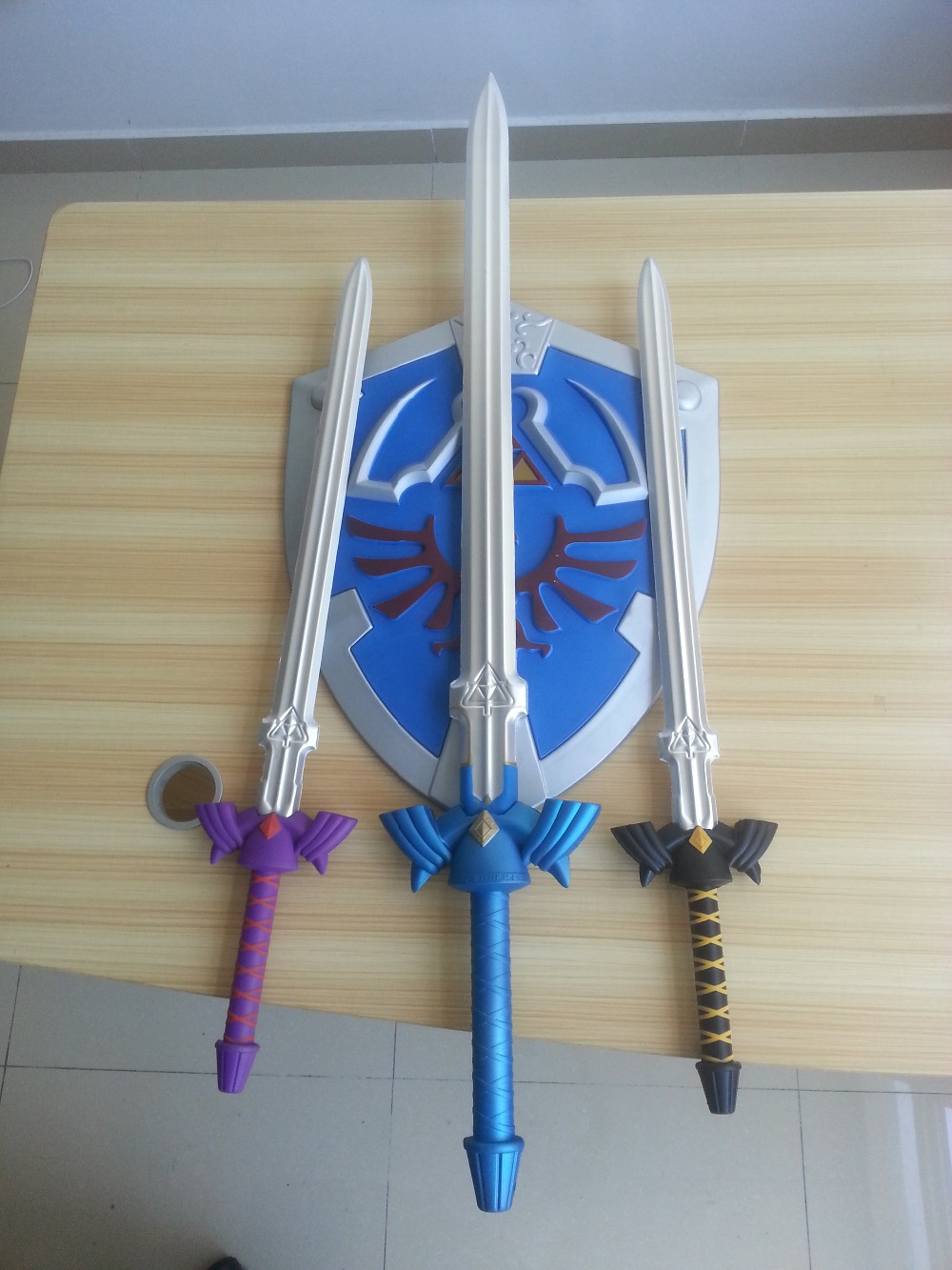 80CM Movie Deadpool Cosplay Equipment EVA Foam sword The Legend of Zelda Blue Replica Master Sword Prop Display New cosplay toys