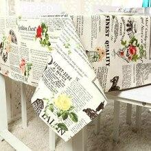 DUNXDECO скатерть, вечерние, декоративные, для стола, ткань, хлопок, холст, бумага с принтом розы, коврик для стола, винтажное украшение
