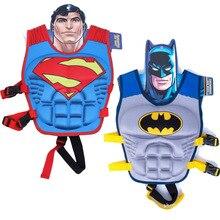 Супергероя плавательный человек-паук супермен бэтмен спасательный круг плавание бассейн мальчиков девочек