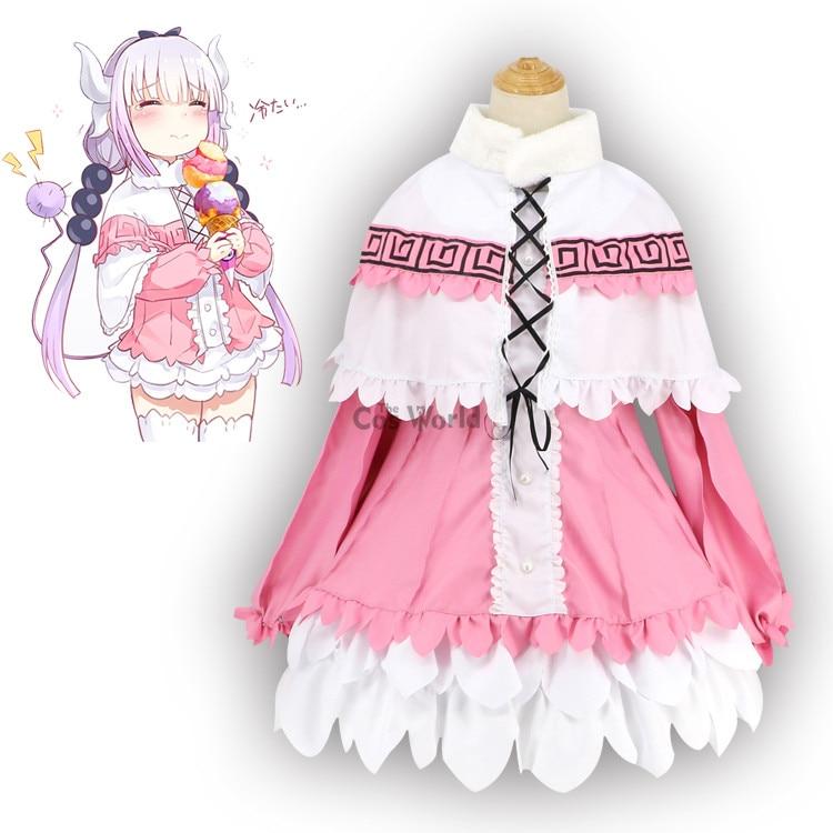 Miss Kobayashi's Dragon Maid Kamui Kanna Shirt Dress Uniform Meidofuku Anime Outfit Cosplay Costumes
