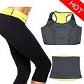 ( Pants+Vest+Belt) HOT Selling Super Stretch Neoprene Shapers Clothing Sets Women's Slimming Pants waist trainer  Girdle Body