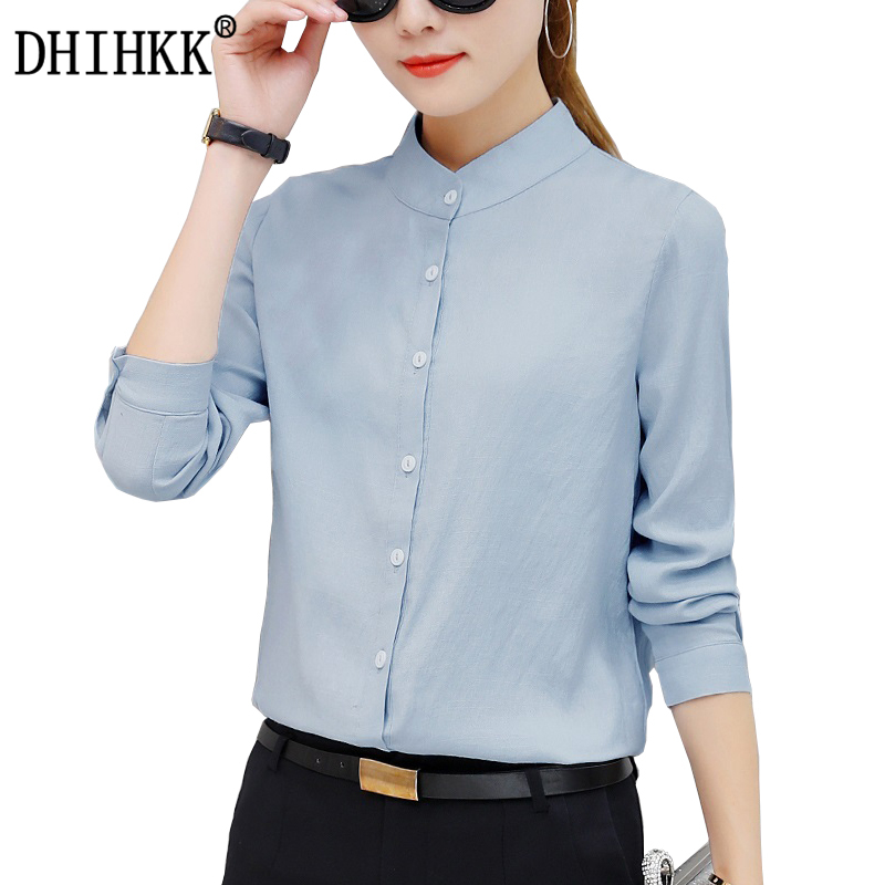 DHIHKK Official Store DHIHKK 2017 New Women Autumn Blouses Shirts Long Sleeve Elegance Blouse Formal Office Lady Shirts Blusas Top Tees Bluscas  9010