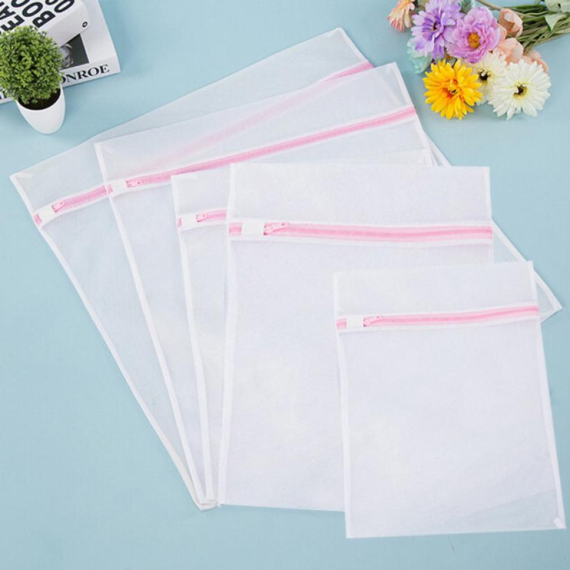 5PCS Delicates Laundry Bags Bra Lingerie Protection Washing Drying BagWashing Bags 3MY31