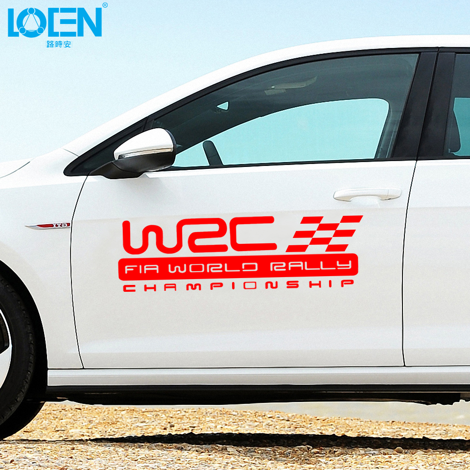 Waterproof red black white sticker wrc world rally championship sport racing car styling sticker racing sports decals on aliexpress com alibaba group