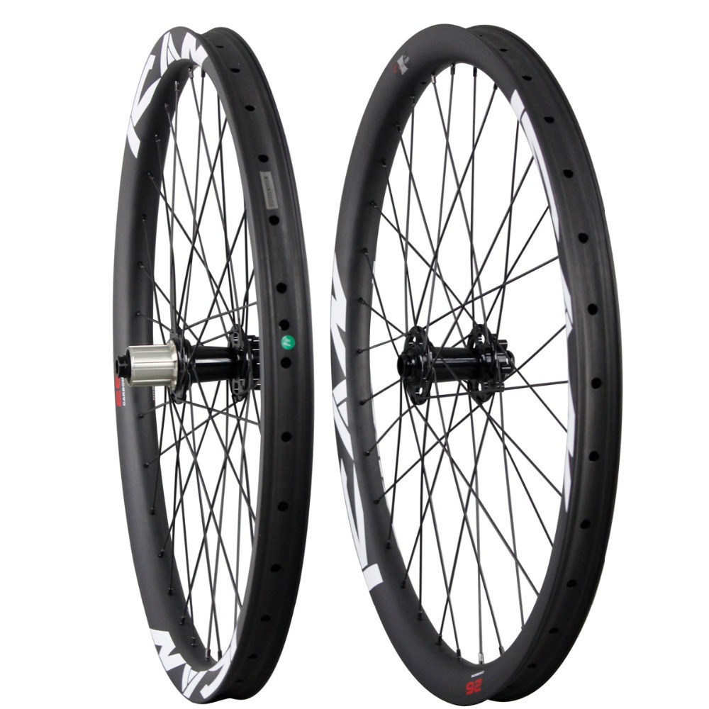 All mountain carbon wheels 26ER with ICAN logos UD Matte mtb carbon wheelset bit hub carbon bicycle components 2015 AM260-35-TL free shipping carbon mtb wheelset 27 5er mtb wheels mtb bike 650b wheels 35mm width mountain bicycle mtb wheelset ud matte wheel