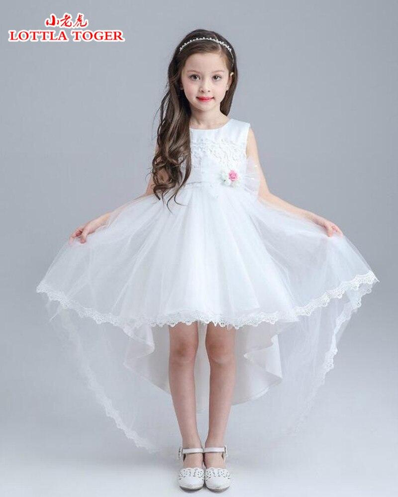 Новинка 2017 года; нарядное платье с цветочным узором для свадебной вечеринки Для Девочек Пышные Платья для малышей платье с фатиновой юбкой