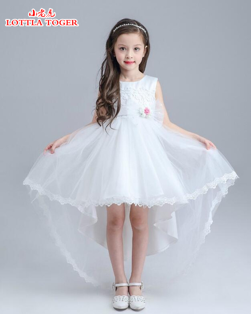 2017 new wedding party formal flowers girl dress baby