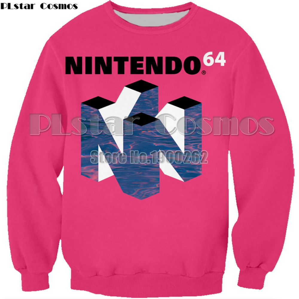 c6569ff6 PLstar Cosmos 2018 New Fashion Mens 3d sweatshirt Nintendo 64 Vaporwave  Snowy Mountain Collection Printed Crewneck Pullovers-in Hoodies &  Sweatshirts from ...