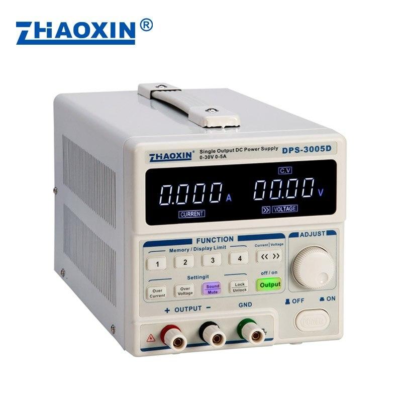 DPS 3005D источник питания постоянного тока Регулируемый 30v5a цифровой дисплей высокая точность линейных ЧПУ мобильный телефон ремонт ноутбуко