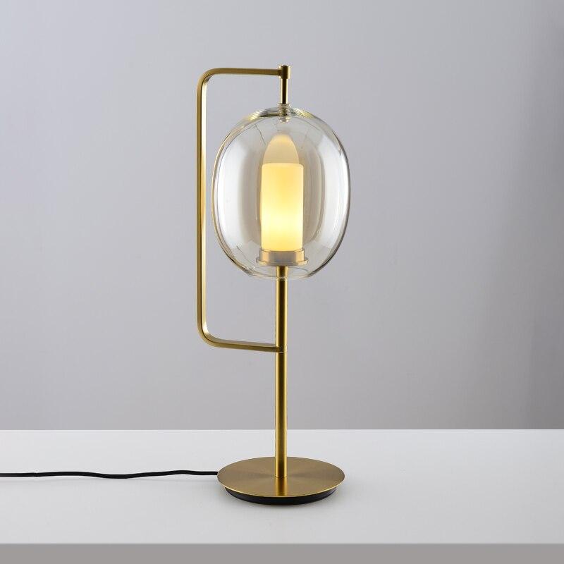 Современный стеклянный стол, металлический Настольный светильник для спальни, светильники, настольные лампы, гостиная, золотой, черный, настольная лампа, домашние настольные лампы AL101 - 4