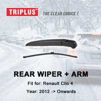 Rear Wiper Arm with Blade for Renault Clio 4 (2012 Onwards) Clio Grandtour MK4 Touring IV Rear Wiper Arm & Rear Wiper Blades|Windscreen Wipers|   -