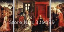 100% handmade Oil Painting reproduction on,Triptico de La Anunciacion by rogier van der weyden ,Free DHL Shipping,