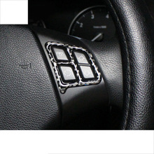 lsrtw2017 carbon fiber car steering wheel trims for bmw 3 series 320 318 316 325 330 335 340 328 e90 e91 e93 2005-2013