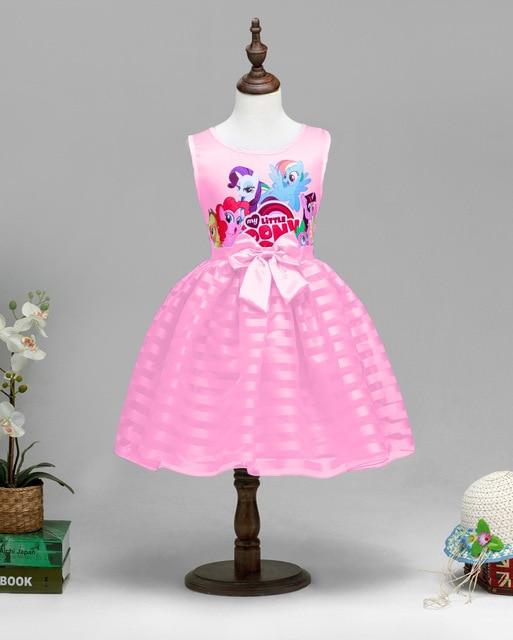 Nueva Niñas princesa Cartoon pony niños ropa partido Cosplay traje ...