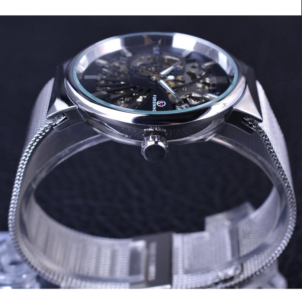 Forsining 2017 Μόδα Casual Ουδέτερη Σχεδίαση - Ανδρικά ρολόγια - Φωτογραφία 5