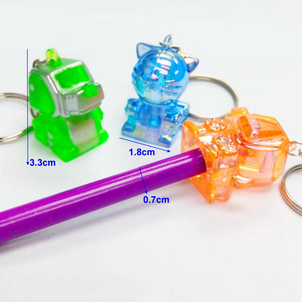 2 piece Cyber כלב רובוט E330 מפתח שרשרת טבעת עיפרון Pinata למעלה קסם צמיד בנות שרשרת אופנה מסיבת יום הולדת ומתנות חידוש