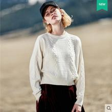 100%Cashmere Sweaters Women Pullover White Sweater Thick Round Collar Natural Fabric Extra Soft Warm High Quality Free Shipping