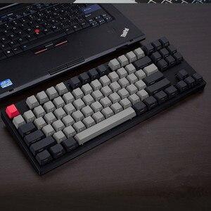 Image 2 - Oem perfil de teclado para cherry mx, boneca fria de jazz preto e cinza misto com pbt 108 87 61 adicionar chave de mac do iso