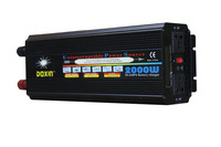 Full Power 2000W LCD display DC12V to AC220V / DC24V to AC220V Modified Wave UPS Inverter with 20A battery charger