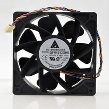 Delta QFR1212GHE QFR1212GHE-PWM 4 линии DC 12 V 2.7A 12038 120x120x38 мм контроль скорости вентилятора Сервер вентилятор охлаждения для Биткойн шахтера