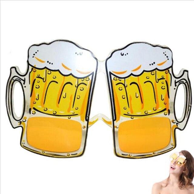 Kreative Bier Tasse Auge Glaser Requisiten Rahmen Cartoon Bier