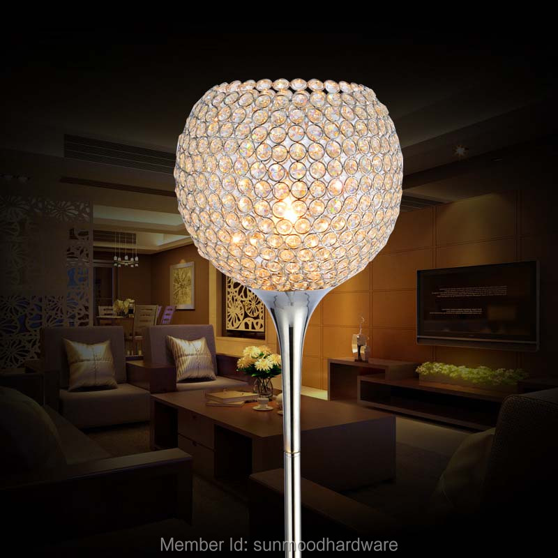 White Living Room Lamps: Modern Warm LED Crystal Decorative Lamp Warm White Living
