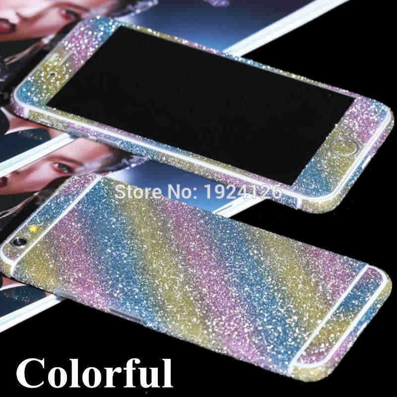 ... For iPhone XS Max XR Glitter Bling Front Back Sticker For iPhone X 8 5  5s ... 4b45fae228c7