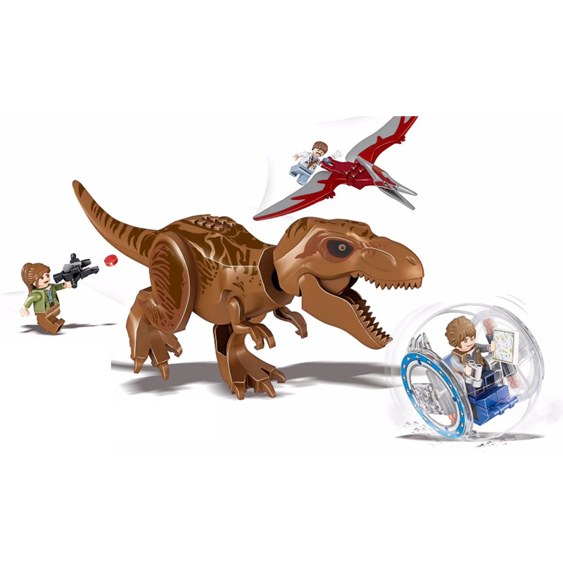 Jurassic World 2 Tyrannosaurus Rex Dinosaur Building Blocks Bricks Legoings Dinosaur Figures I-Rex Model Toys Kid Gift