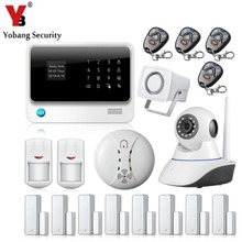 YobangSecurity Contact Display WIFI GSM Alarm System Android IOS APP Managed IP Digicam Wi-fi Smoke Detector for Dwelling Safety