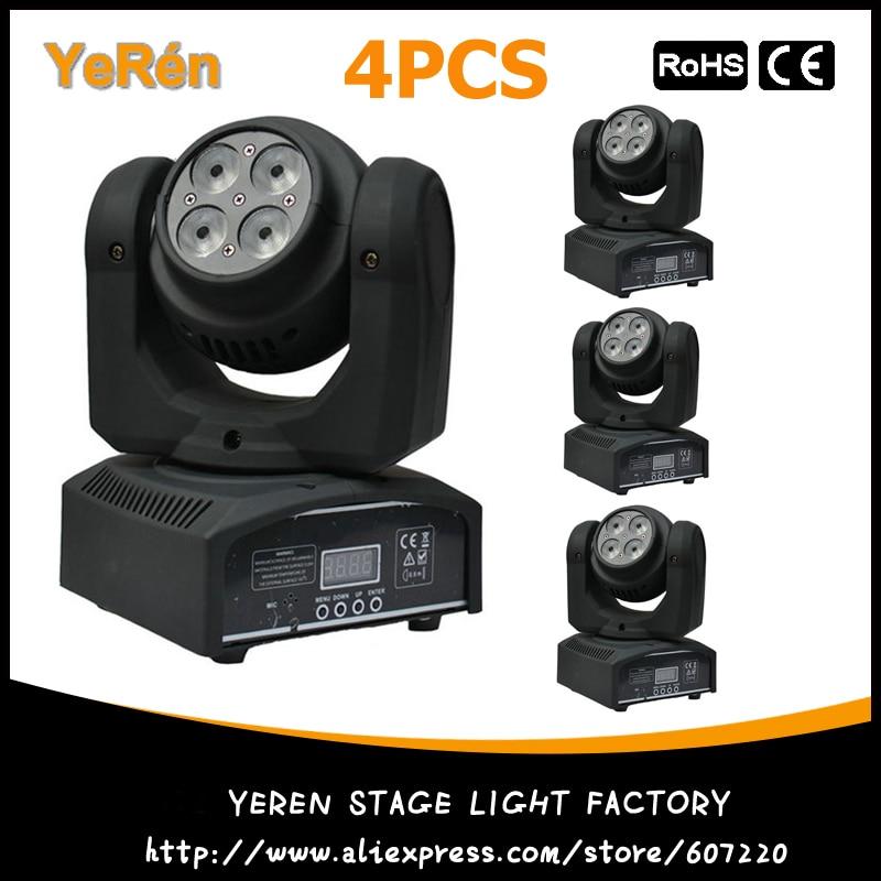 (4PCS) Double-Faced LED Moving Head DJ Wash Light Stage Lighting DMX 16/22 Channeles DJ LED Effect Light