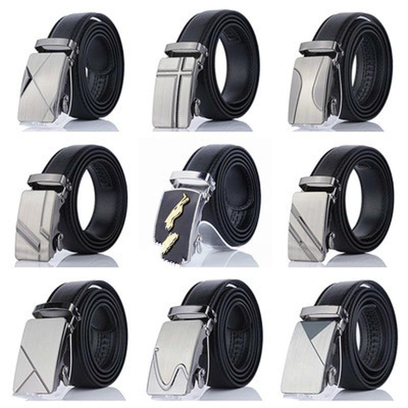 Men's Business Style Belt Designer Leather Strap Male Belt Automatic Buckle Belts For Men Luxury Casual Girdle Belts For Jeans