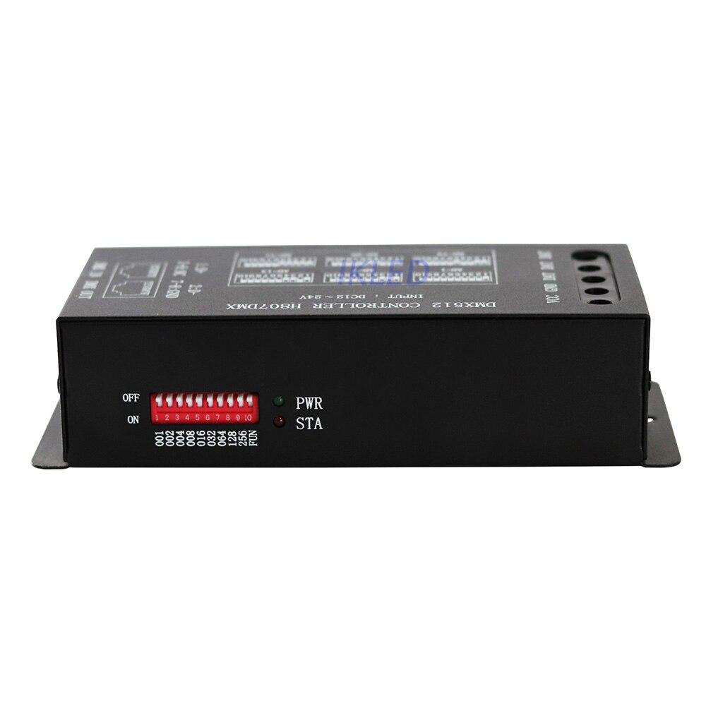 Contrôleur DMX512, connexion à la console DMX512, support WS2812, WS2813, UCS1903, etc.13 canaux DMX par appareil, contrôle max 1024 pixels