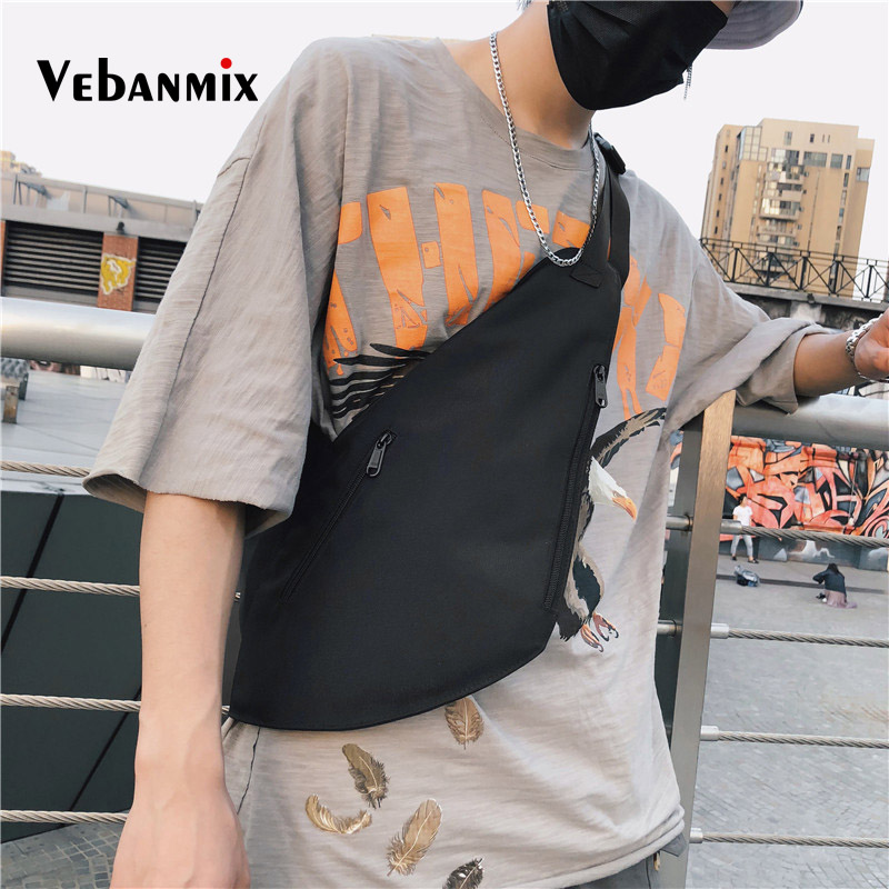 Fashion Streetwear Men's Chest Bag Oxford Casual Men Canvas Tactical Shoulder Crossbody Bag Functional Travel Waist Packs Bag