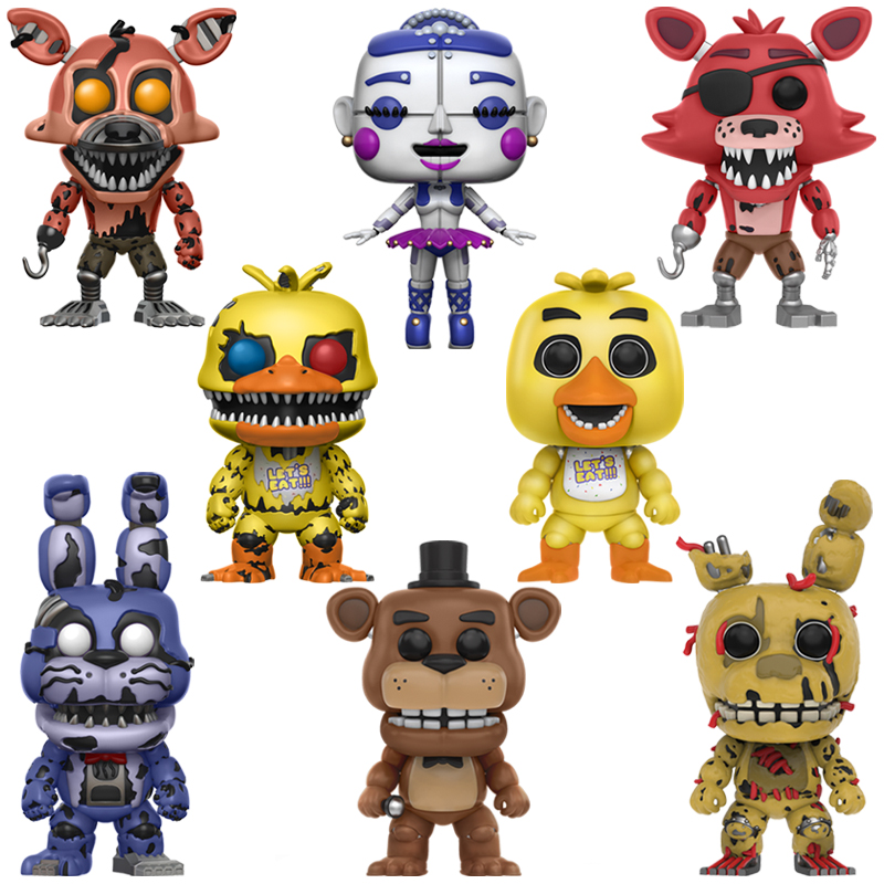 Chica Bonnie Foxy Freddy Fazbear Bear Puppet Nightmare Model Doll Five Nights At Freddy's PVC FNAF Kids Toys Gifts Action Figure
