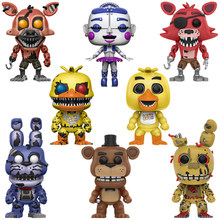 Chica Bonnie Foxy Freddy Fazbear Bear Puppet Nightmare Model Doll Five Nights At Freddy's PVC FNAF Kids Toys Gifts Action Figure(China)