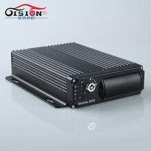Дешевые GS-8204GPS Dual SD Card Автомобильный Видеорегистратор, построен в GPS Moduel Запись GPS Трек и Скорость 4 Канала Мобильный Видеорегистратор Blackbox Mdvr Для Автобусов