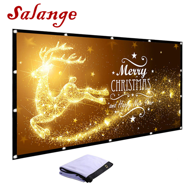 Salange 100 120 inch Projector Screen Fold Anti-Crease Portable Hologram Projection Screen for Short Throw DLP Laser Projector