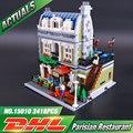 DHL Lepin 15010 Experto Creador Ciudad Calle Restaurante Parisino Modelo Kits de Construcción de Juguete Bloques Compatible 10243