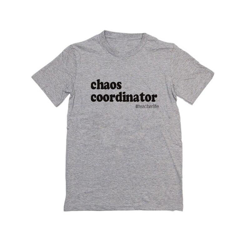 Showtly      Chaos Coordinator Women's T Shirt  Back To School Teacher Appreciation Gift Tee Tops