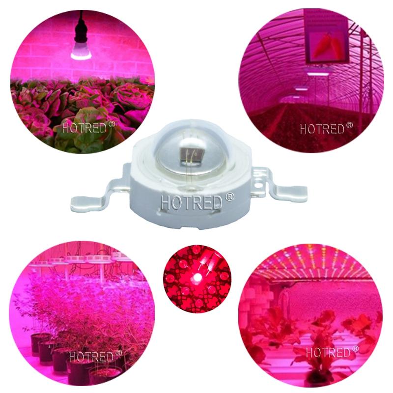 200pcs High Power LED Chip 3W Grow LED 660nm Deep Red SMD Diode COB DIY Grow Light For Plant Fruit Growth