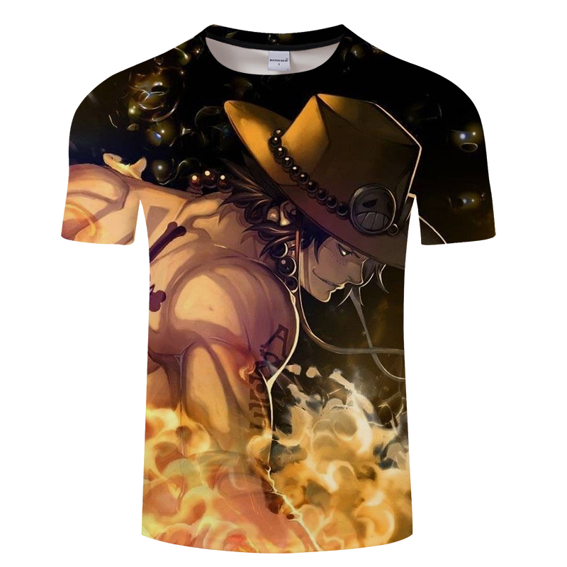 Monkey D Luffy One Piece T Shirt Males Ladies 2019 New Trend 3D Cartoon T-shirt Model Clothes Hip Hop Summer season Tops Tees shirt 6xl T-Shirts, Low cost T-Shirts,...