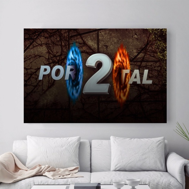 Portal 2 Game Style Vintage Canvas Art Print Painting Poster Wall Pictures For Living Room Home Decoration Decor No Frame 3