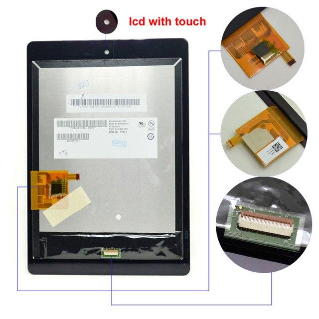"""7.9 """"tela de lcd para acer iconia tab a1 a1-810 a1-811 a1 810 painel touch screen digitador lente de vidro peças tablet"""