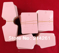 wholesale Blank Pink Necklace Card &Earring Card $0.03-0.1/p Customize Logo moq :2000 pcs cost extra for Logo Printting