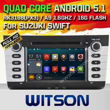 WITSON Android 5.1 Quad-Core CAR DVD GPS for SUZUKI SWIFT Capacitive touch screen 1024*600 HD 16GB Rom Mirror Link Free Shipping