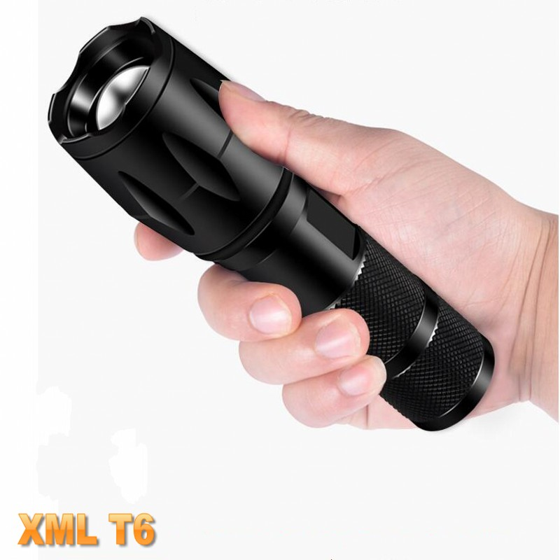 LED Rechargeable Flashlight Power XML T6 Linterna Torch 4000 Lumens 18650 Battery Outdoor Camping Powerful Led Flashlight