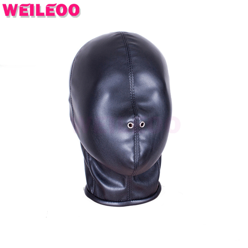 full coated PU leather font b sex b font mask slave bdsm font b sex b