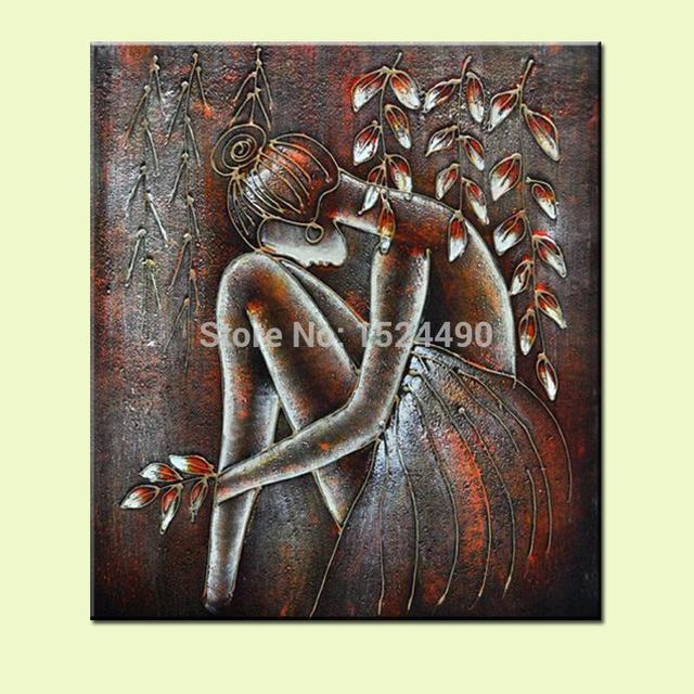 Perfect Decorative Art Handmade Oil Painting On Canvas For Living Room Home Decor  Wall Paintings Brown Background