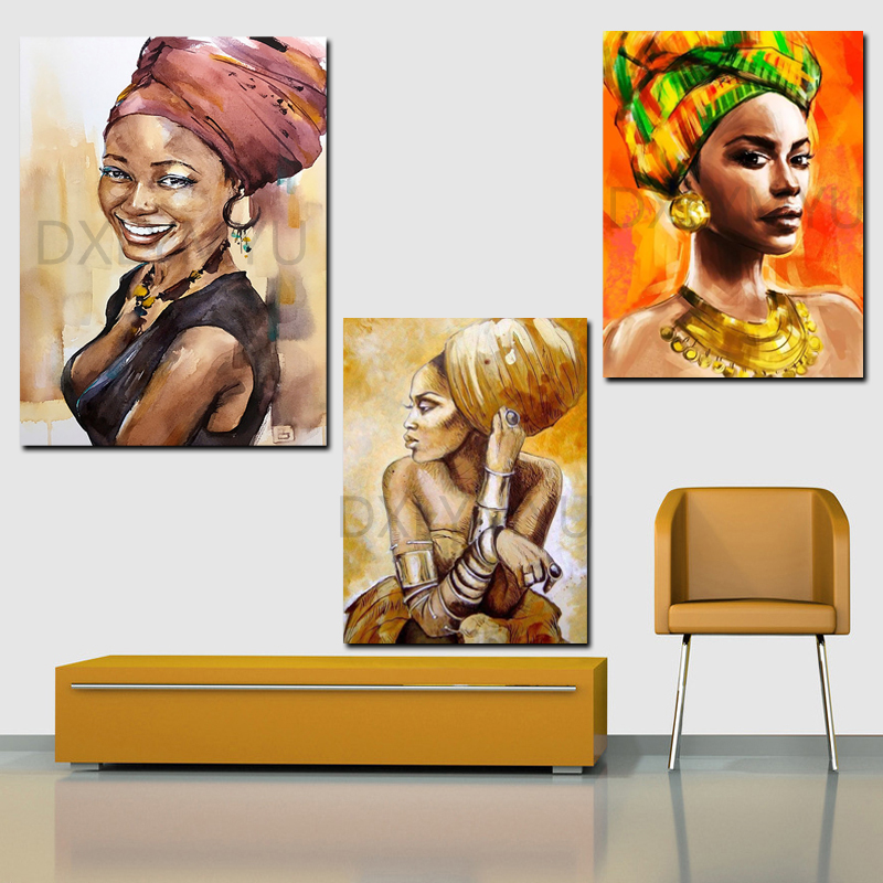 Full Square Diamond Mosaic Portrait 3D Diamond Embroidery 5D Cross Stitch Diamond Painting African Woman Picture Of Rhinestones in Diamond Painting Cross Stitch from Home Garden